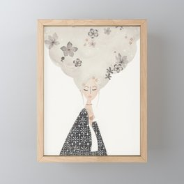 HAIR IN THE CLOUDS Framed Mini Art Print