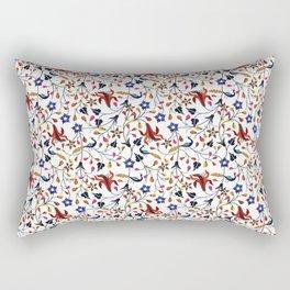 Mughal Motif Peacock Rectangular Pillow