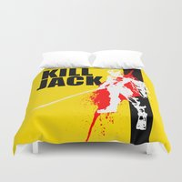 borderlands Duvet Covers featuring KILL JACK - ASSASSIN by Resistance