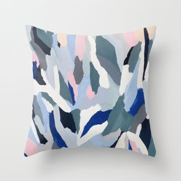 Ascent: abstract painting Throw Pillow