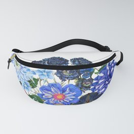 Vintage & Shabby Chic - Blue Flower Summer Meadow Fanny Pack