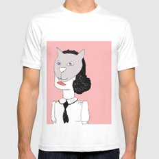 Catface  Mens Fitted Tee White MEDIUM