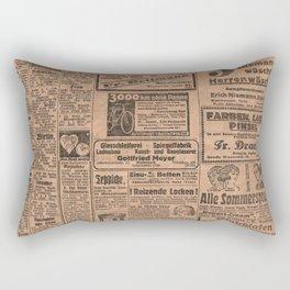 Funny German Vintage Advertising Reizende Locken Rectangular Pillow