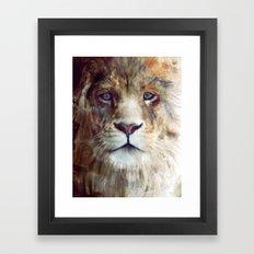 Lion // Majesty Framed Art Print