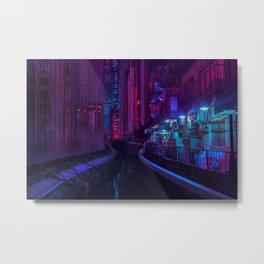 Tokyo Nights / Glitch City / Liam Wong Metal Print