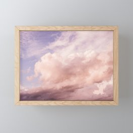 Perfect Pink Summer Sky Nature Photography Framed Mini Art Print