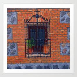 Toledo window Art Print