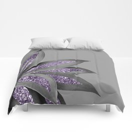 Agave Finesse Glitter Glam #4 #tropical #decor #art #society6 Comforters