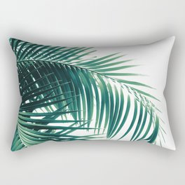 Palm Leaves Green Vibes #6 #tropical #decor #art #society6 Rectangular Pillow