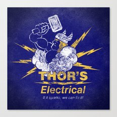 Thor - Thor's Electrical Canvas Print