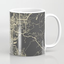 San Diego Map yellow Coffee Mug