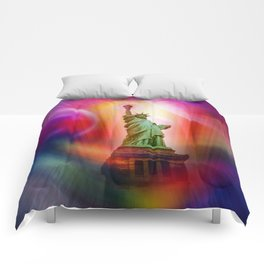 New York NYC - Statue of Liberty 2 Comforters