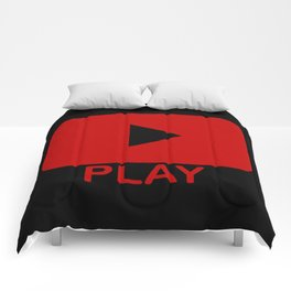 Play Button Comforters