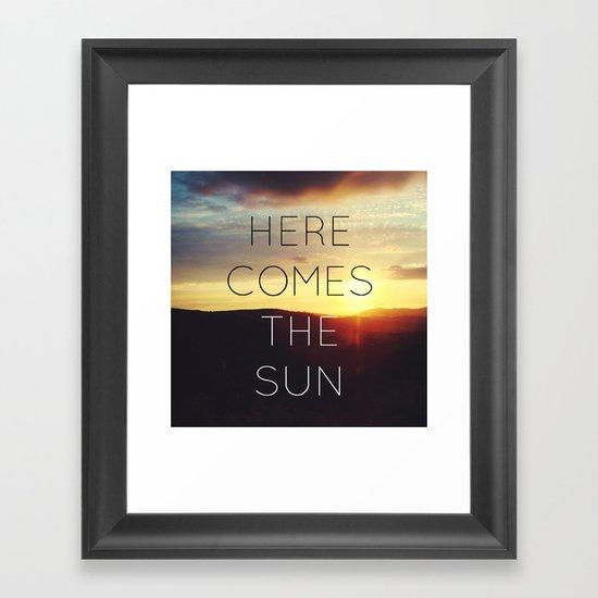 Here It Comes Framed Art Print