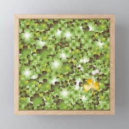 Gold Clover Framed Mini Art Print