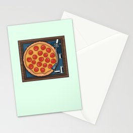 Pizza Record Player Stationery Cards