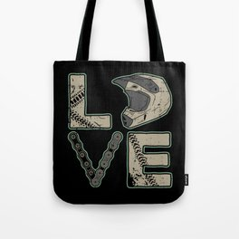 I Love Dirt Bike | Motocross Tote Bag