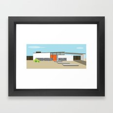 Mid Century Modern Palm Springs House 8 Framed Art Print