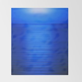 Sunset on the Water-Deep Blue Throw Blanket