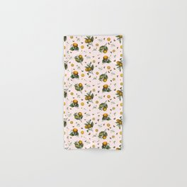 Oranges and Butterflies in Blush Hand & Bath Towel