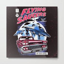 Flying Saucers Metal Print