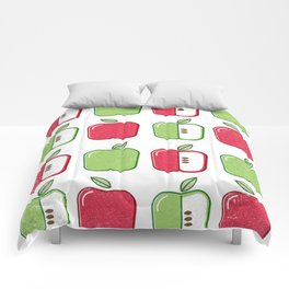 APPLE SMAPPLE DAPPLE HAPPLE PAPPLE Comforters