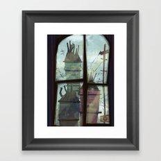 window to somewhere Framed Art Print