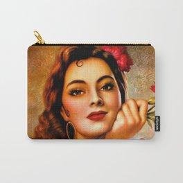Mexican Sevillana Calendar Girl by Jesus Helguera Carry-All Pouch
