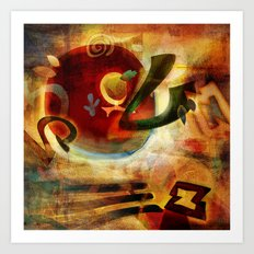 Elements VI - Radiate Art Print