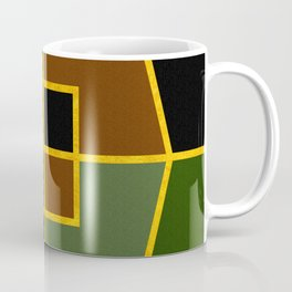 Color Block_Copse Green Gold Coffee Mug