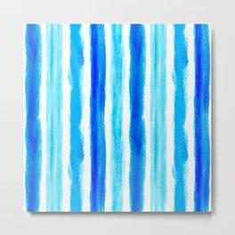 Laird Blue Stripes Metal Print