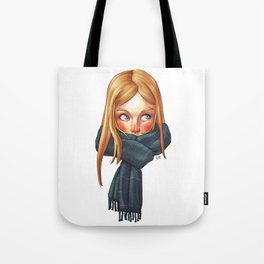 Blonde with Scarf Tote Bag