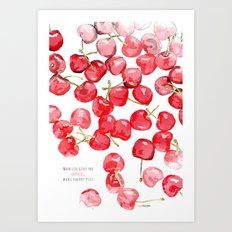 Cherry pies Art Print