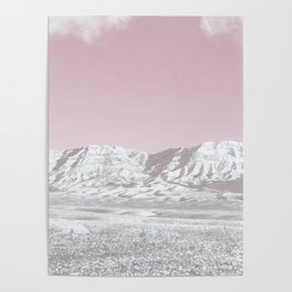 Mojave Snowcaps // Las Vegas Nevada Snowstorm in the Red Rock Canyon Desert Landscape Photograph Poster
