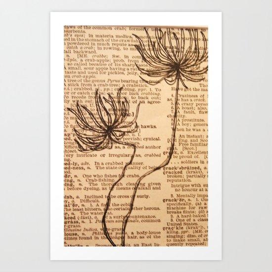 Flowery Art Print