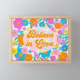 Believe in Love Framed Mini Art Print