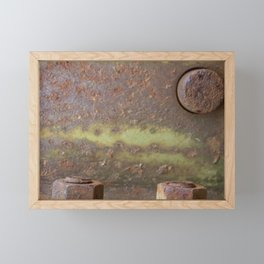 Rusted Bolts Framed Mini Art Print
