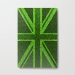 Grass Britain / 3D render of British flag grown from grass Metal Print