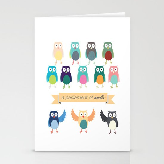 A Parliament of Owls Stationery Cards