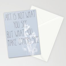 Not What You See Stationery Cards
