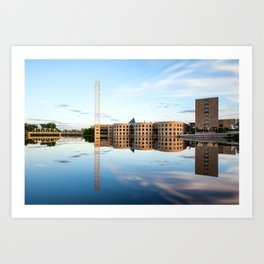 River river reflection Art Print