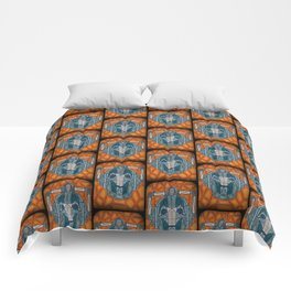 cyberman stained glass Comforters