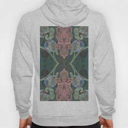 Elegant Detailed Orchid Meditation Pattern Hoody
