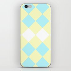 Checkers Yellow/Blue iPhone & iPod Skin