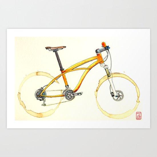 Coffee Wheels #08 Art Print
