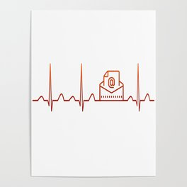 Mail Carrier Heartbeat Poster