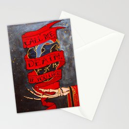 Call Me Death, If You Like Stationery Cards
