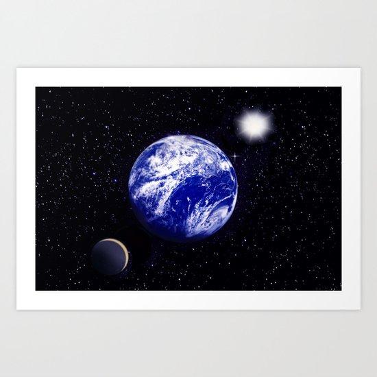 The blue Planet. Art Print