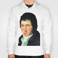 beethoven Hoodies featuring Beethoven by SuchDesign