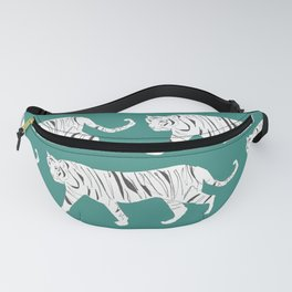 Tiger Print Teal Fanny Pack